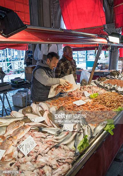 Fish vendor at he Rialto Market