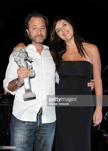 Fisher Stevens and Gisella Marengo attend day seven of the Ischia Global Film And Music Festival on July 17 2010 in Ischia Italy