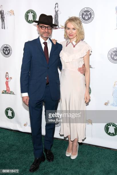Fisher Stevens and Naomi Watts attend the 2017 Turtle Ball at The Bowery Hotel on April 17 2017 in New York City