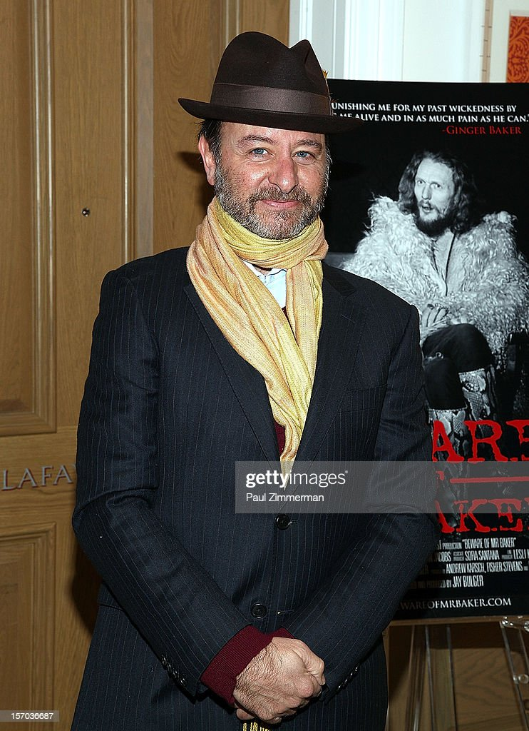 <a gi-track='captionPersonalityLinkClicked' href=/galleries/search?phrase=Fisher+Stevens&family=editorial&specificpeople=206958 ng-click='$event.stopPropagation()'>Fisher Stevens</a> attends 'Beware Of Mr. Baker' New York Screeningat Crosby Street Hotel on November 27, 2012 in New York City.