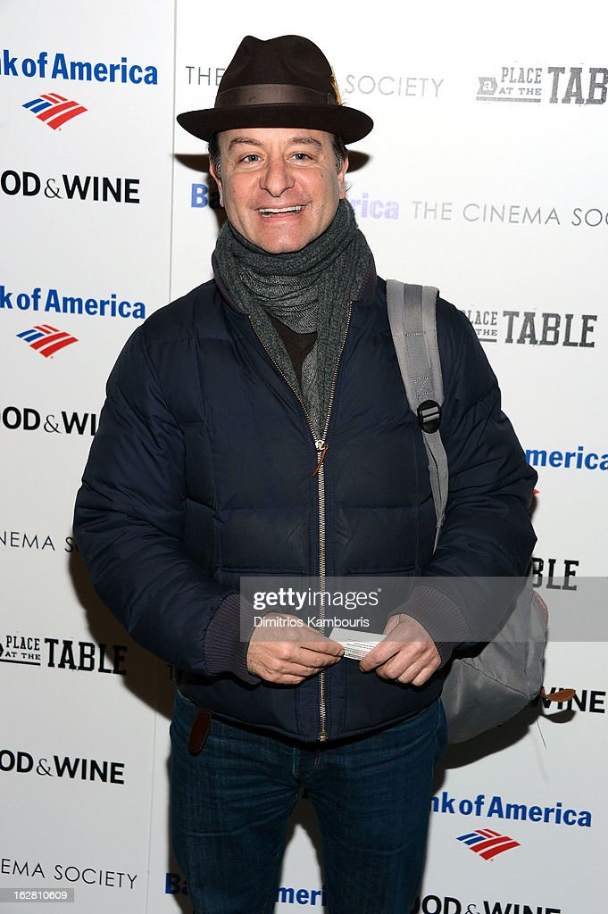 Fisher Stevens attends the Bank of America and Food Wine with The Cinema Society screening of 'A Place at the Table' at Museum of Modern Art on...