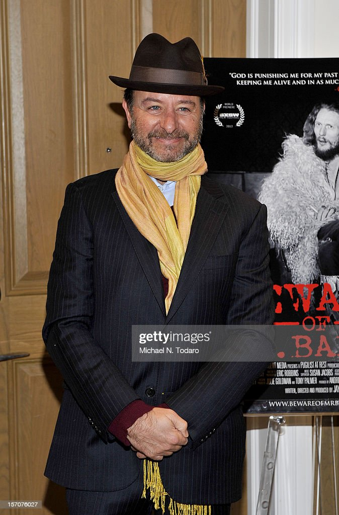 <a gi-track='captionPersonalityLinkClicked' href=/galleries/search?phrase=Fisher+Stevens&family=editorial&specificpeople=206958 ng-click='$event.stopPropagation()'>Fisher Stevens</a> attends the 'Beware of Mr. Baker' screening at the Crosby Street Hotel on November 27, 2012 in New York City.