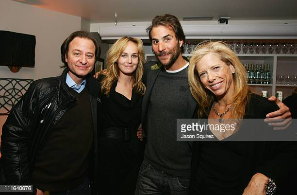 Fisher Stevens guest Ben Silverman and Editorinchief of SELF magazine Lucy Danziger attend Self And MSN Green Celebrate 'Crude' at the Greenhouse on...