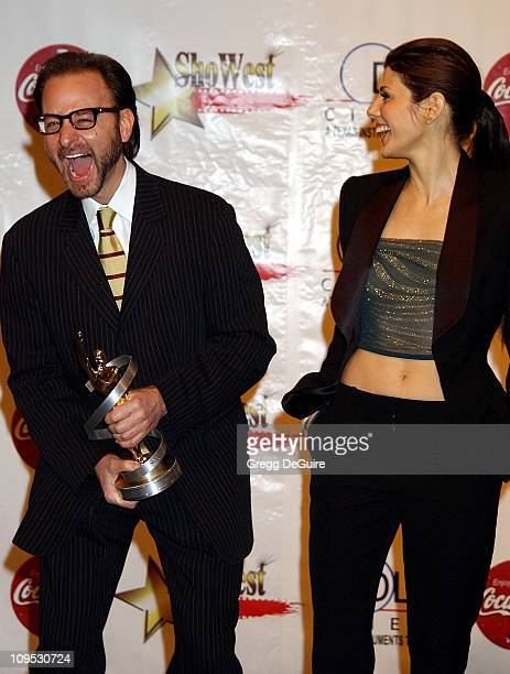 Fisher Stevens Marisa Tomei during 2002 ShoWest Gala Awards Press Room at Paris Hotel in Las Vegas Nevada United States