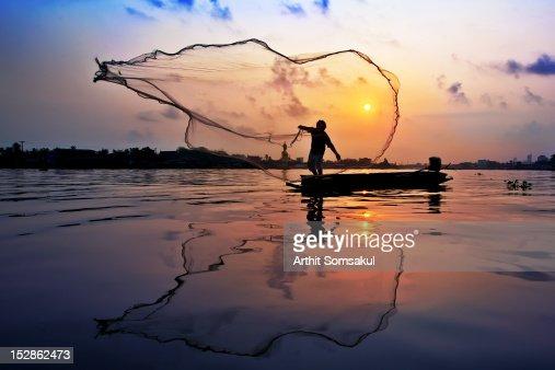 Fisherman at Chaophaya river