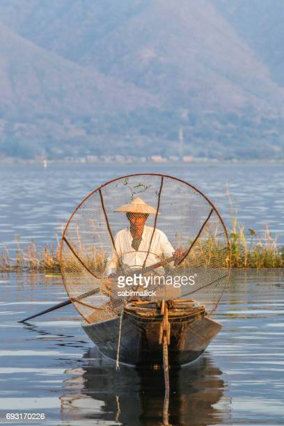 Fisherman at Inle Lake, Myanmar.
