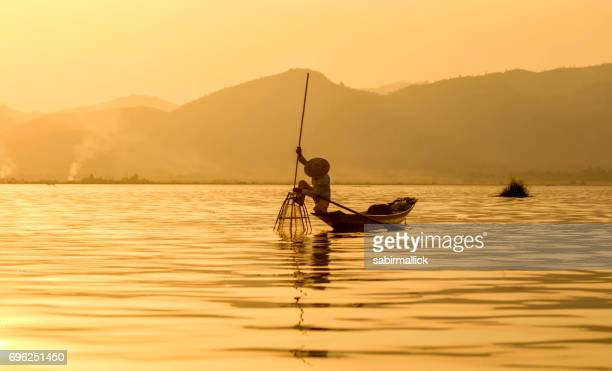 Fisherman at Inle Lake, Myanmar