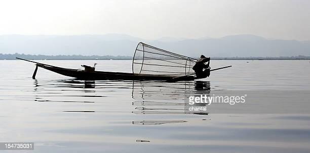 fisherman at work on the Inle lake
