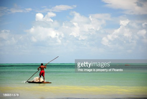 Fisherman fishing in Brazil