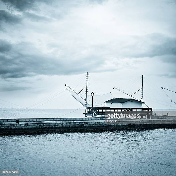 Haus in Fisherman Wharf, blau Getönt