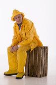 Fisherman in rain gear