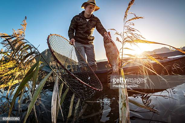 Fisherman in the boat