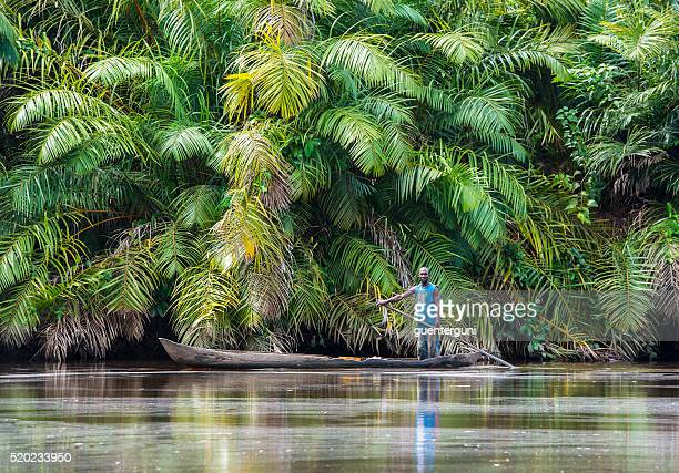 Fisherman in the Mangrove Forest on Congo River