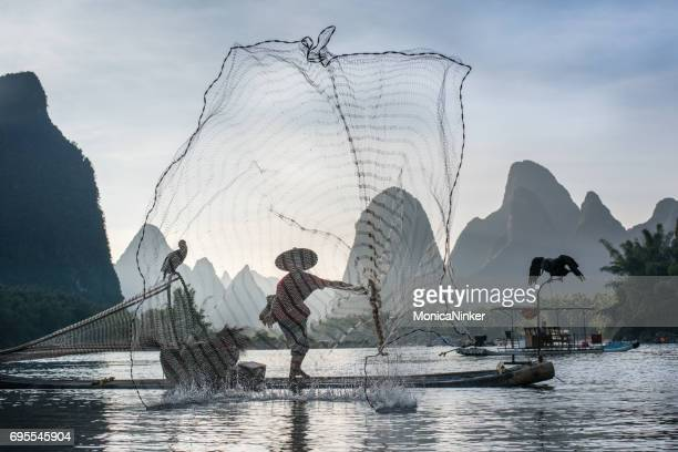 李川の漁師