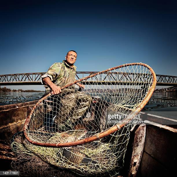 Fisherman on river Danube