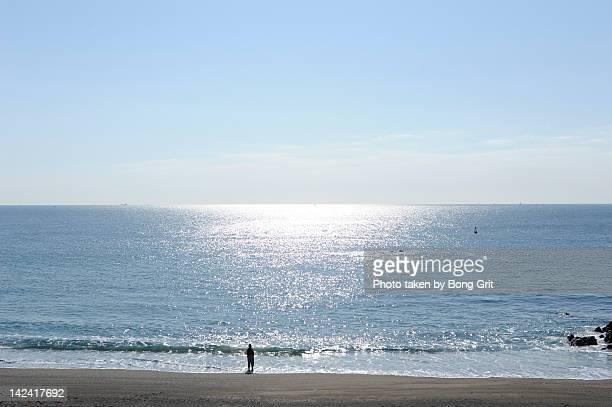 Fisherman on sea