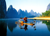Fisherman on the Li River in Guilin