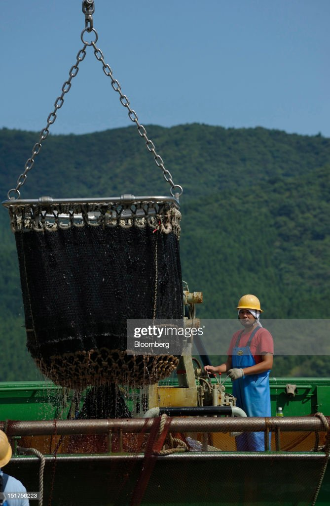 A fisherman operates a trawler at a port in Ofunato City, Iwate Prefecture, Japan, on Friday, Sept. 7, 2012. Japan's economy expanded in the second quarter at half the pace the government initially estimated, underscoring the risk of a contraction as Europe's debt crisis caps exports.Photographer: Akio Kon/Bloomberg via Getty Images