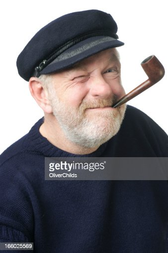 Fisherman pulling a Popeye face.