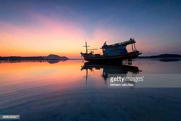 Fisherman ship at rawai beach, Phuket