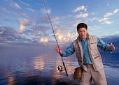 Fisherman telling a tall tale