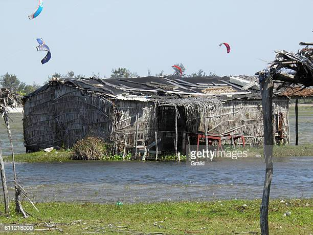 Fisherman thatched house in Fortaleza Brazil