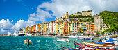 Beautiful fisherman town of Portovenere near Cinque Terre, Liguria, Italy