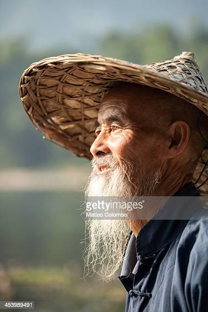 Fisherman with cormorants on Li river, near Guilin