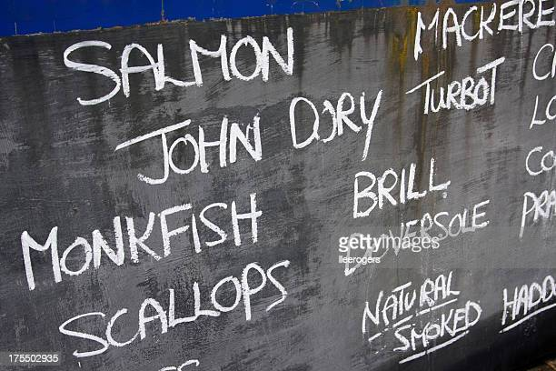 Fishermans blackboard