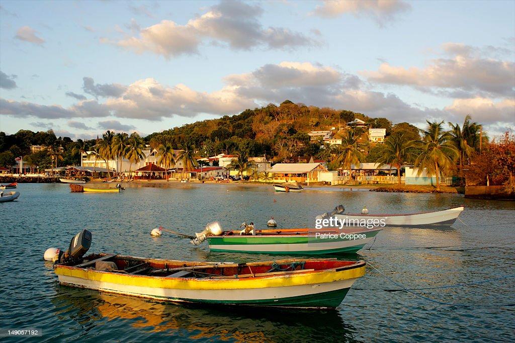 Fishermen boats in Martinique : Stock Photo