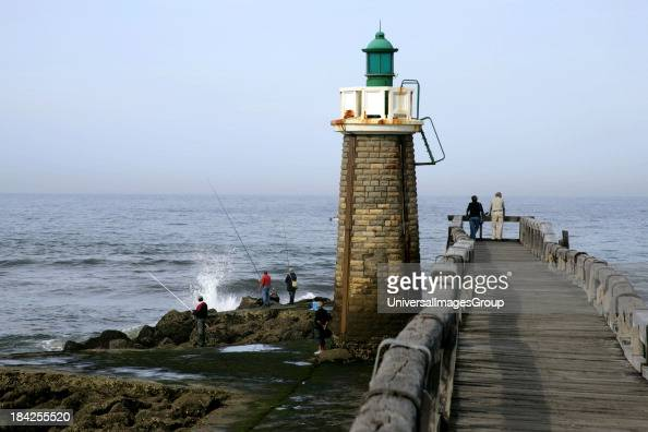 Fishermen Capbreton Cote Landaise lighthouse Bordeaux Atlantic Coast Aquitaine France