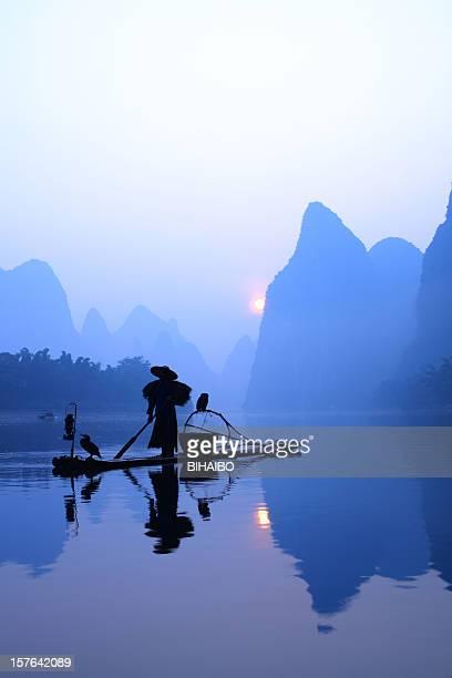 Fishermen fishing in china