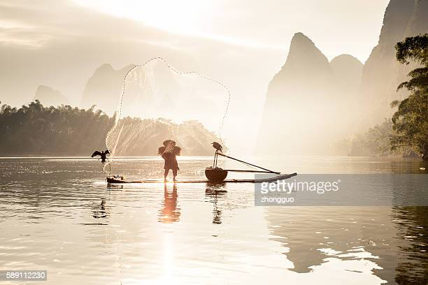 熟練の釣り漓江