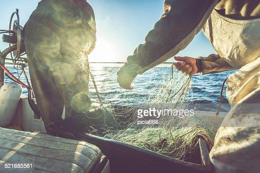 Fishermen hands