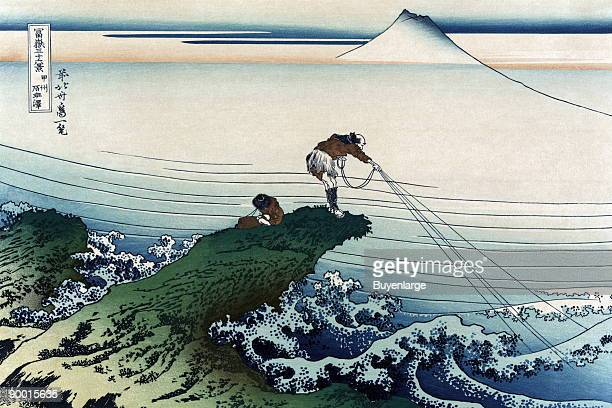 Fishermen on a Promontory pull their lines