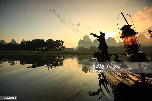 漓江の漁師