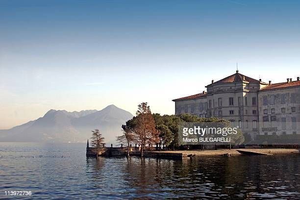 Destination Maggiore Lake In Stresa Italy On December 28 2006Lake Maggiore Italy December 28 2006 fishermen's island on Maggiore lake