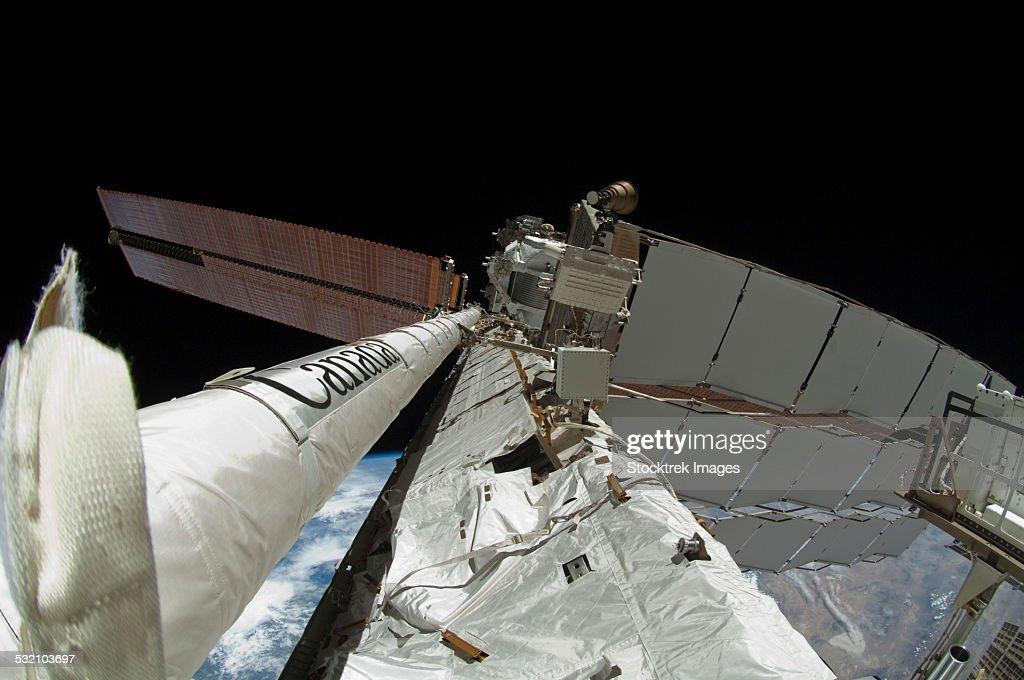 Fisheye Lens View Of The Enhanced International Space ...