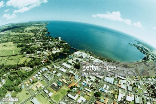 Fisheye view of Big Island, Hawaii : Stock Photo