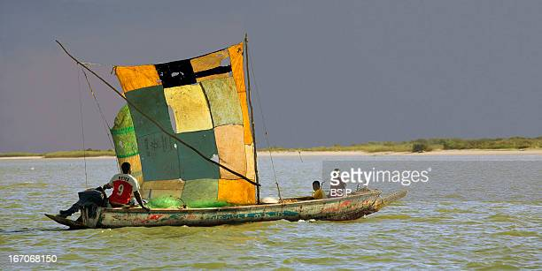 Fishing africa Senegal pirogue on the Senegal River