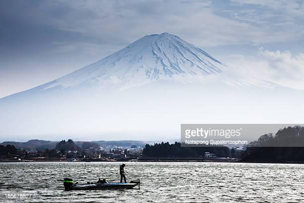 Fishing at Kawaguchiko