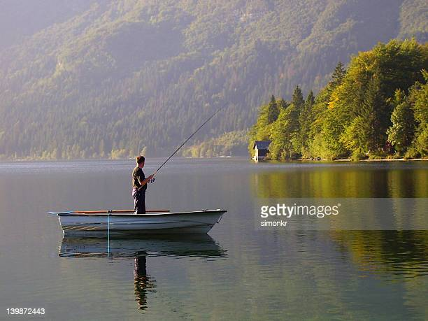 Fishing at Lake Bohinj