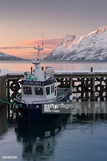 Fishing boat at Ersfjordboton in Norway