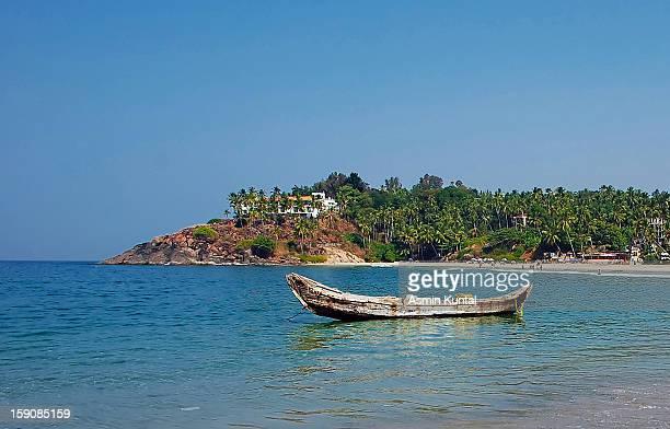 Fishing Boat at Kovalam Beach, Kerala
