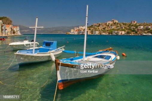 Fishing boat in Kastellorizo harbour
