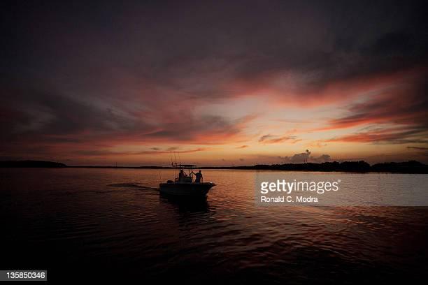 A fishing boat is seen during a Florida Keys fishing trip on October 10 2011 in Islamorada Florida