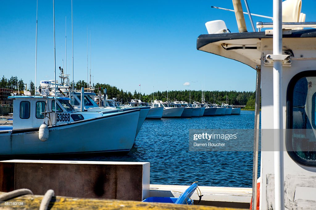 Fishing boat lineup