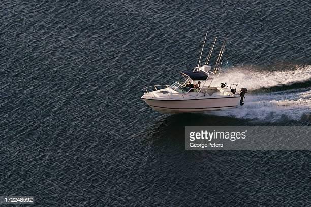 Fischerboot am See Lake Superior