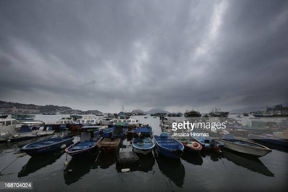 Fishing boats are seen at Cheung Chau Island on the first day of the Cheung Chau Bun Festival on May 14 2013 in Hong Kong Hong Kong Today is the...