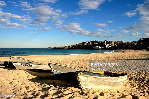 Fishing boats at Coogee Beach.